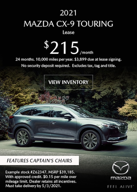 2021 Mazda CX-9 Touring Lease Offer