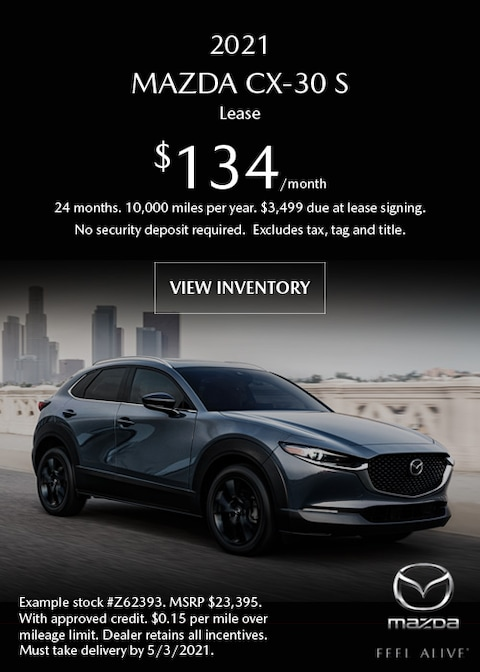 2021 Mazda CX-30 S FWD Lease Offer