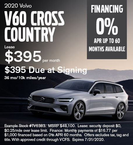 V60 Cross Country July 2020 Lease Special