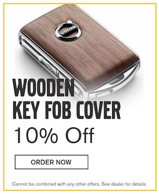 10% Off Wooden Key Fob Cover