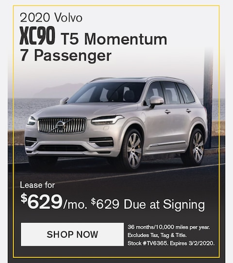 Volvo XC90 February 2020 Lease Special