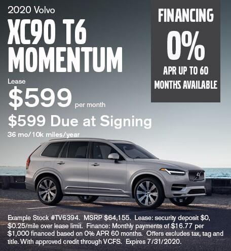 XC90 T6 Momentum July 2020 Lease