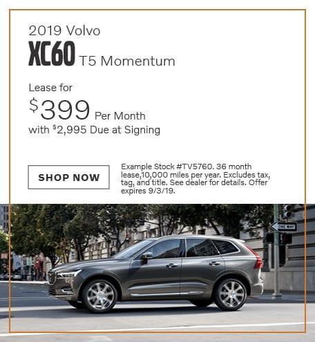 2019 Volvo XC60 - August Offer