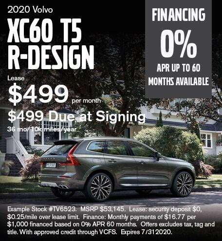 XC60 T5 R-Design July 2020 Lease