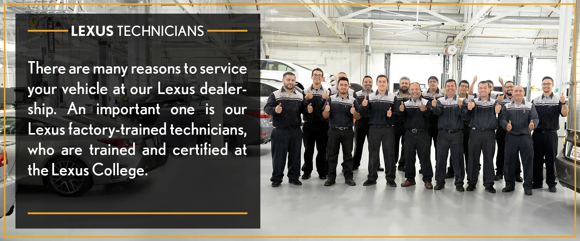There Are Many Reasons To Service Your Vehicle At Our Lexus Dealership. An  Important One Is Our Lexus Factory Trained Technicians, Who Are Trained And  ...