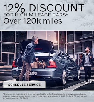 12% Service Discount for High Mileage Vehicles
