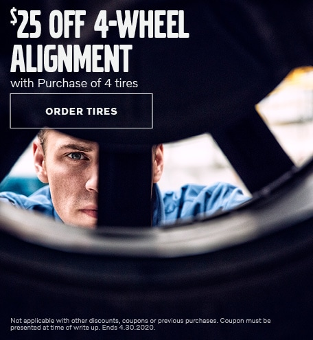 Wheel Alignment with Tire Purchase