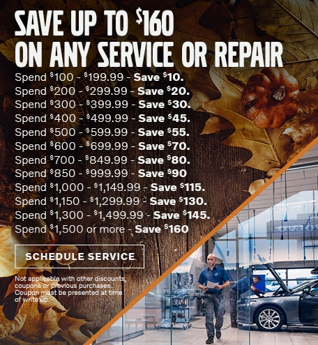 Save Up to $60 on any Service or Repair