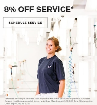 8% Discount on Service