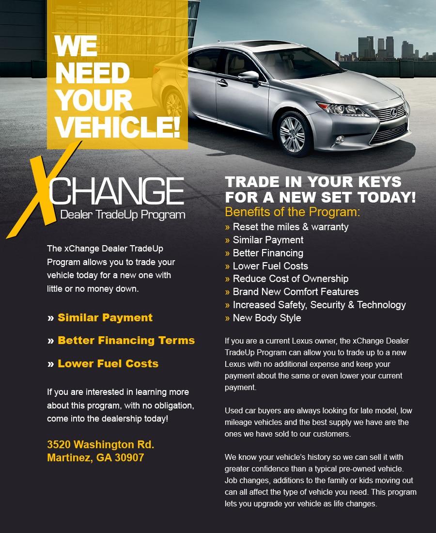 Jim Hudson Lexus >> Vehicle Exhange Program | Jim Hudson Lexus Augusta