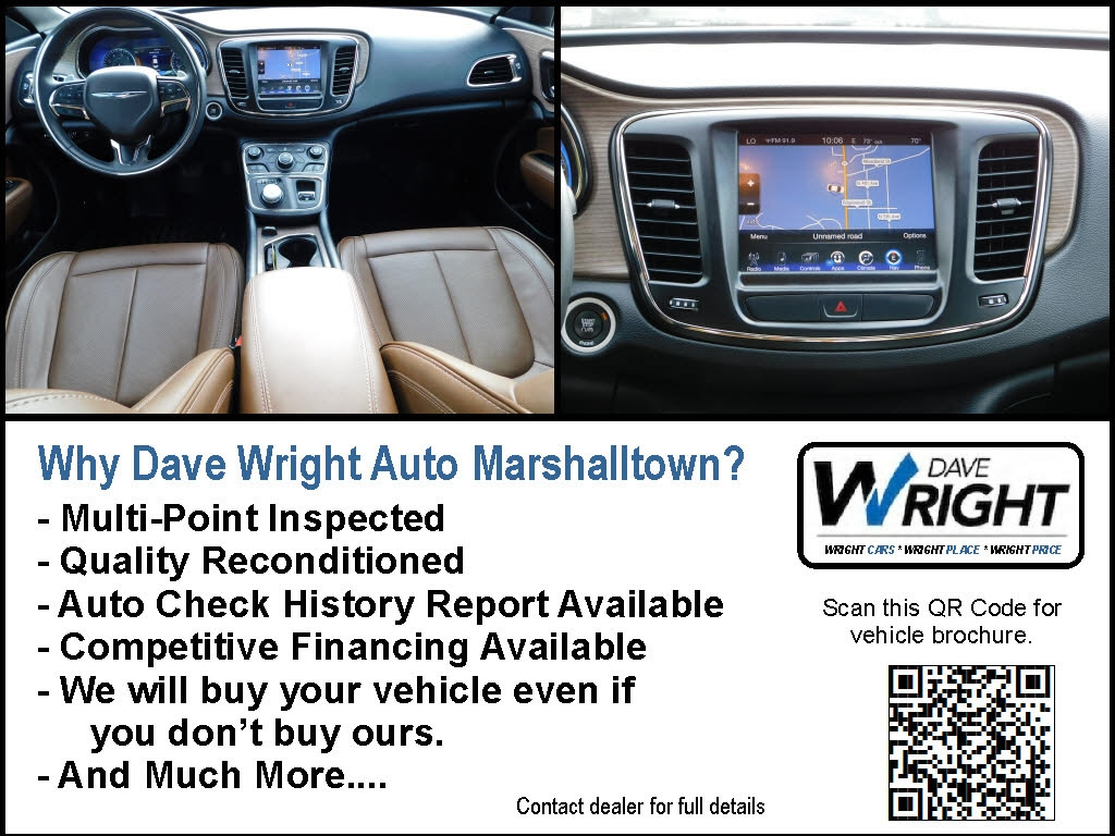 Used 2016 Chrysler 200 For Sale at Dave Wright Auto | VIN