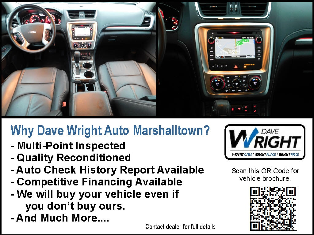 Used 2016 GMC Acadia For Sale at Dave Wright Auto | VIN