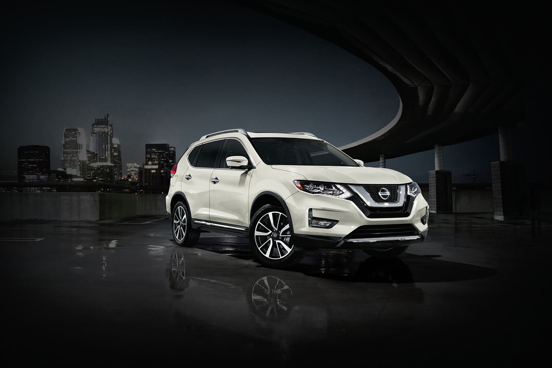 2020 Nissan Rogue on road