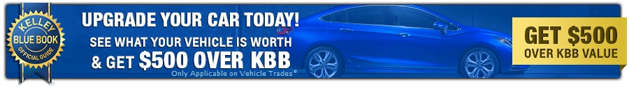 Get $500 Over KBB Trade Value