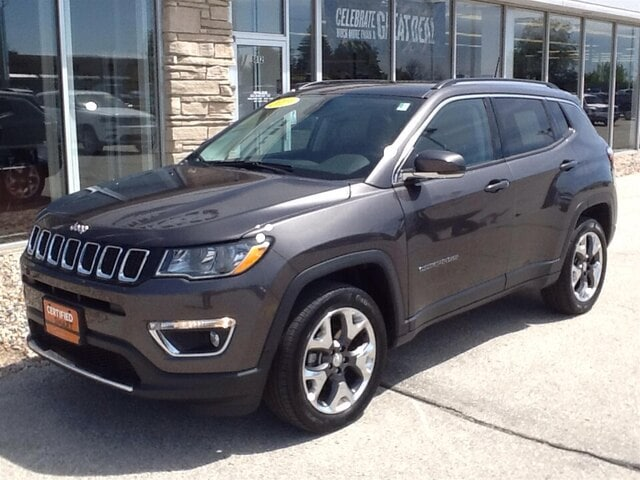 2019 Jeep Compass Limited 4x4 SUV at Jim Olson Car Dealership in Door County, WI