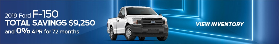 2019 F-150 Total Savings $9,250 and 0% APR for 72 mo