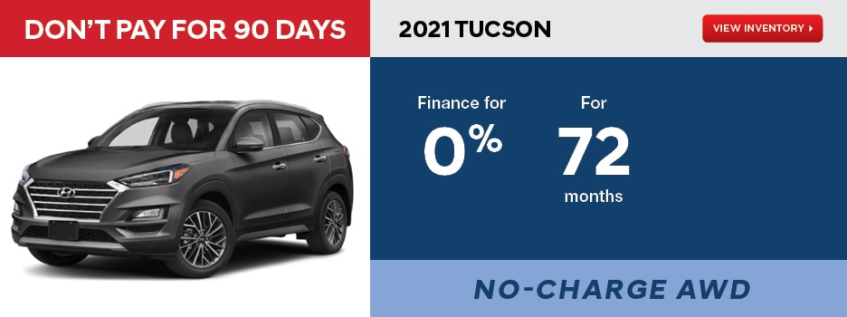 2021 TUCSON Essential FWD January Offer