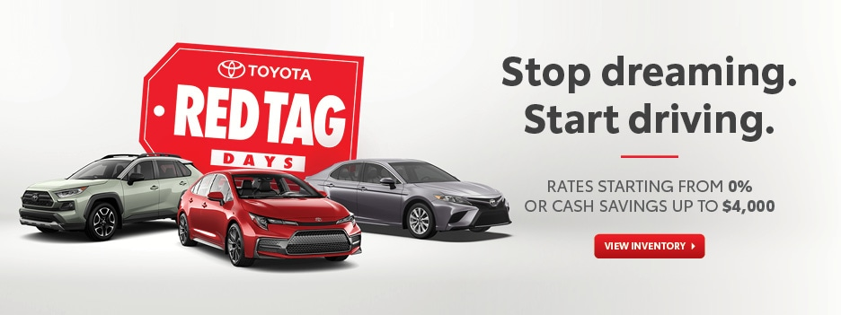 Great Offers During Our Toyota Red Tag Days