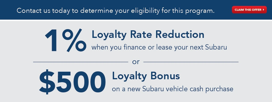 Subaru Loyalty Program