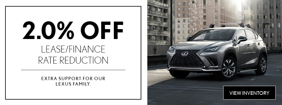 Lexus 2.0% Off Lease/Finance Rate Reduction