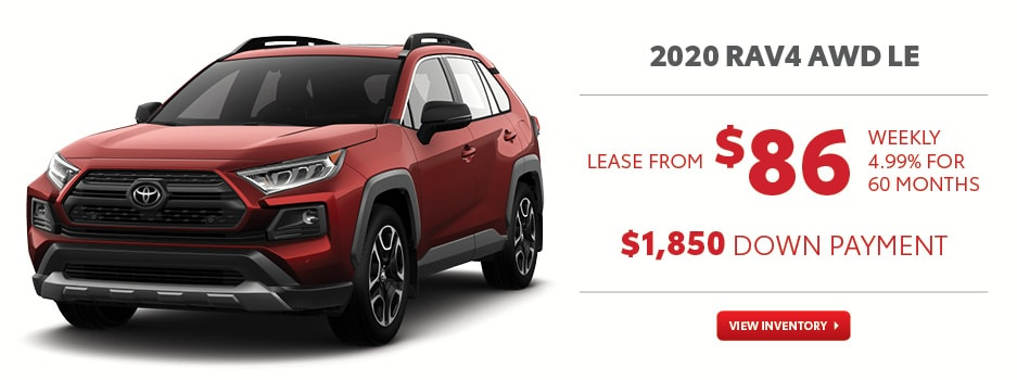 2020 RAV4 AWD LE August Offer