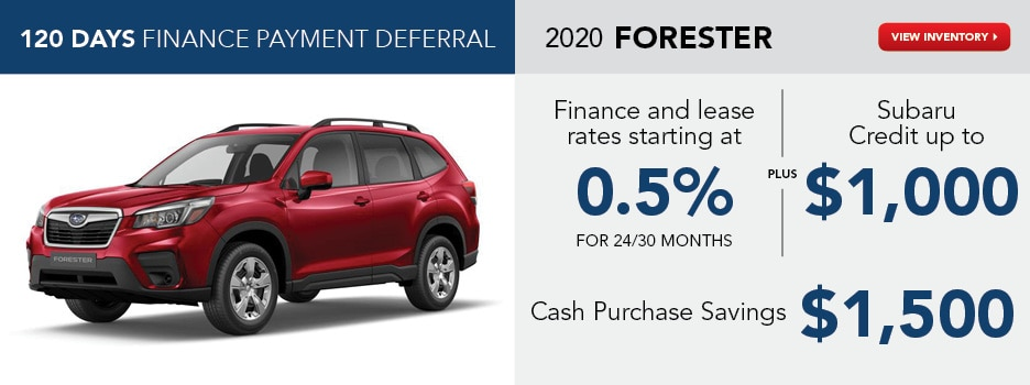 2020 Forester July Offer