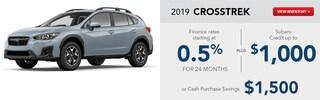 2019 Subaru Crosstrek January Specials