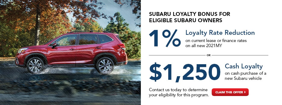 Subaru April Loyalty Bonus