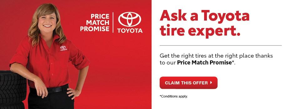 Toyota Tire Price Match Promise