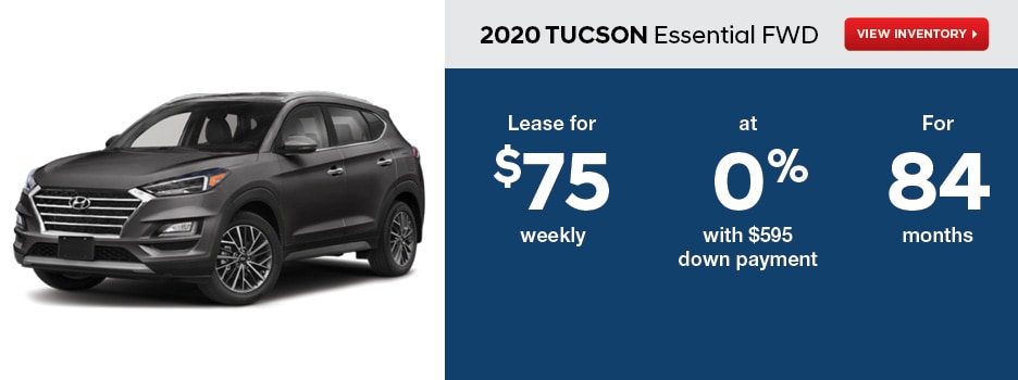 2020 TUCSON Essential FWD August Offer