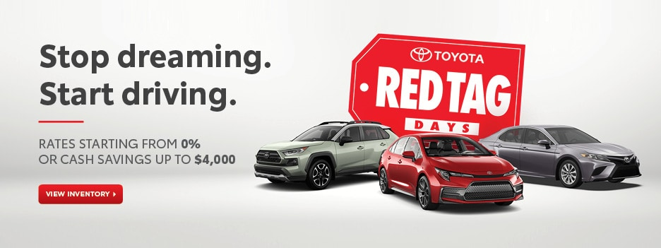 Toyota Red Tag Days are here!