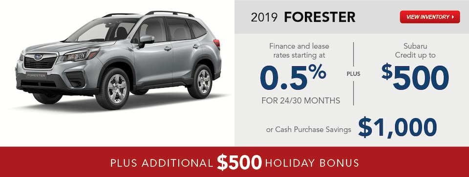 2019 Subaru Forester December Specials