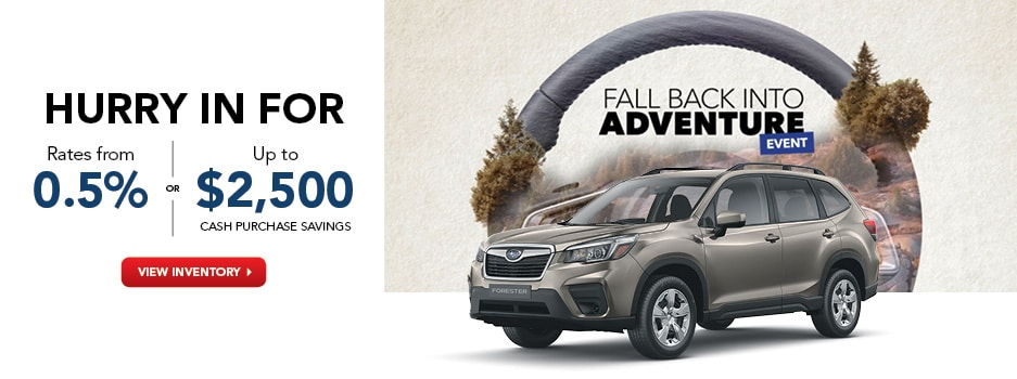 Subaru Fall Back Into Adventure Event