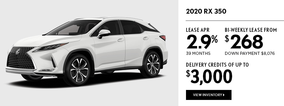 2020 RX 350 September Offer