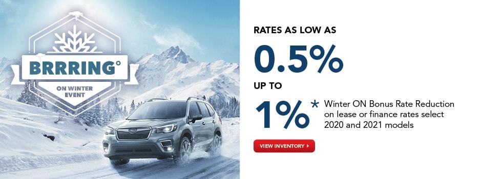 Subaru Bring On Winter Event