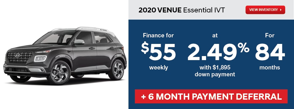 2020 VENUE Essential IVT April Offer