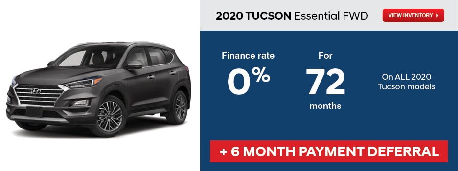 2020 TUCSON Essential FWD April Offer