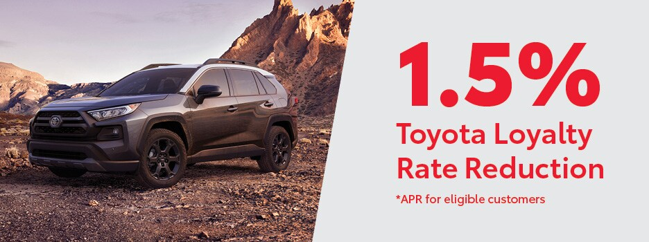 Toyota Loyalty 1.5 Lease and Finance Rate Reduction