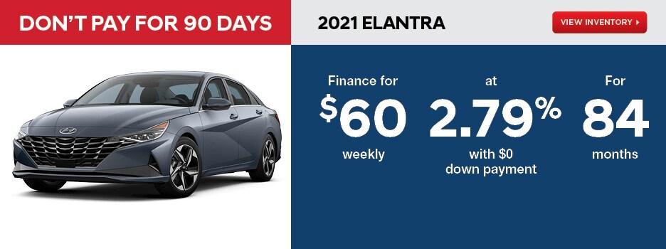 2021 ELANTRA Essential Manual January Offer