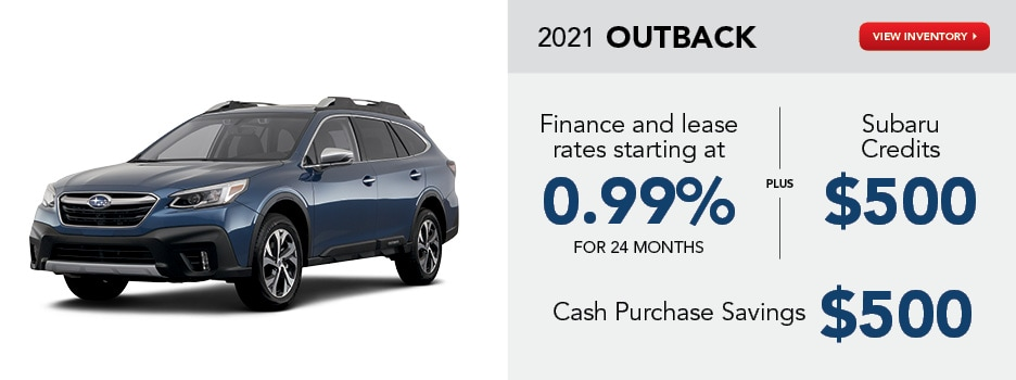 2021 Outback January Offer