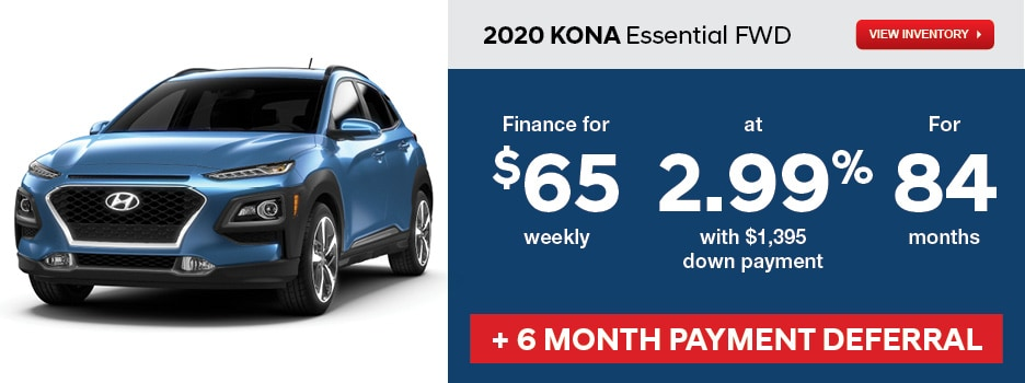 2020 KONA Essential FWD April Offer