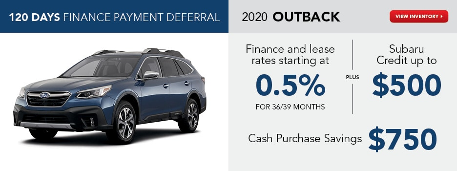 2020 Outback May Specials