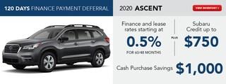 2020 Ascent May Specials