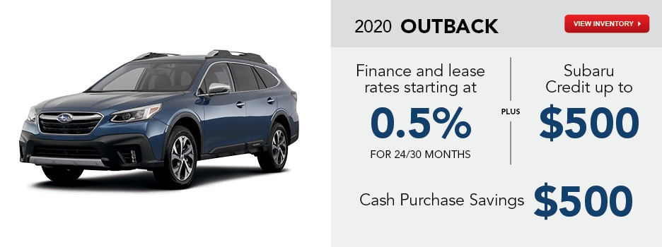2020 Outback March Specials