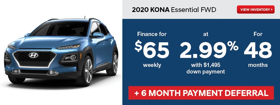 2020 KONA Essential FWD May Offer