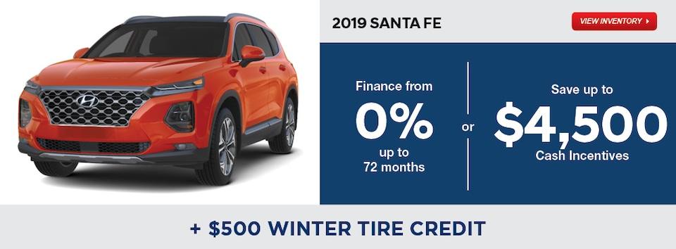 2019 Santa Fe December Specials