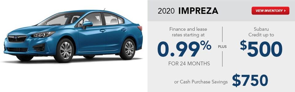 2020 Subaru Impreza January Specials