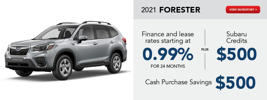 2021 Forester January Offer