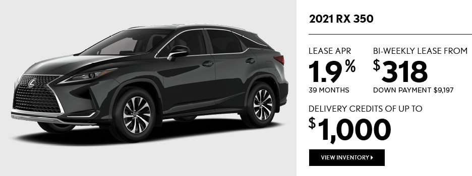 2021 RX 350 May Offer