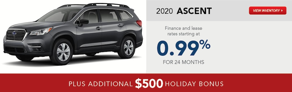 2020 Subaru Ascent December Specials